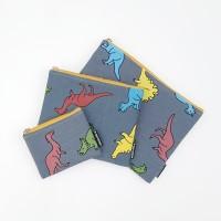 공룡 블루 파우치(3size)