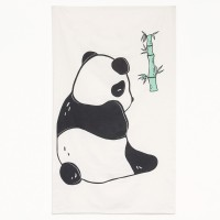 [Fabric] Big Animal - 시무룩 판다 illust cut Linen