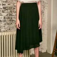 [YAN13] AROUND WRAP SKIRTS_BLACK