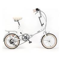 시티즈 접이식 미니벨로 16인치 클래식자전거 Real White