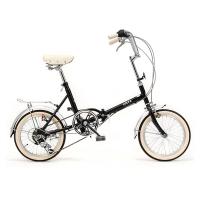 시티즈 접이식 미니벨로 16인치 클래식자전거 Black