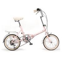 시티즈 접이식 미니벨로 16인치 클래식자전거 Metro Pink