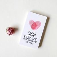 [지문하트&이니셜] 커스텀 석고방향제 커플 기념일 특별한 선물