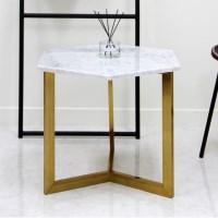 아르마블 비앙코카라라 육각 대리석 테이블