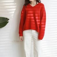 Wool V-neck KNIT