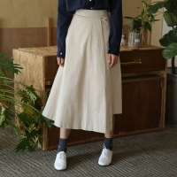a-line flare wrap skirt