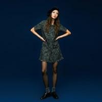Tweed Mini Dress in Black