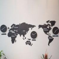 에코보드 세계지도 시계(중)/무소음 벽시계
