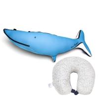 [럭키플래닛]본보야지 2IN1 목베개_흰수염고래