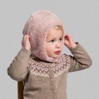 [CTH MINI] 브리지타 폭스퍼 핑크 유아동 털모자