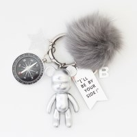 실버 베어 (FOX FUR) keyring