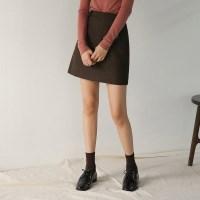 classic herringbone check skirt