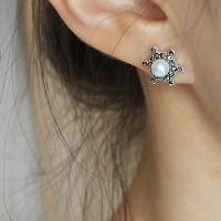 진주 선샤인 귀걸이(6월탄생석)pearl sunshine earring