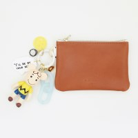 찰리브라운 card & coin wallet (brown)