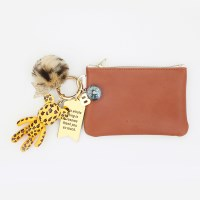 레오퍼드 card & coin wallet (brown)