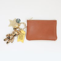 골드 피스 card & coin wallet (brown)