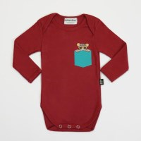 Leo Pocket Bodysuit (red)