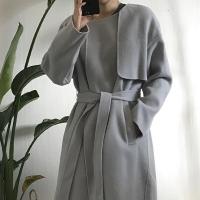 핸드메이드 어깨날개 A핏 코트 _연그레이