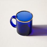 코발트 유리머그컵