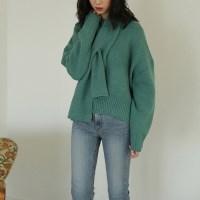 muffler set knit