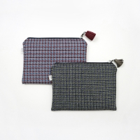 houndtooth check pouch