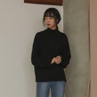 half-neck basic knit