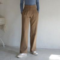 pintuck maxi slacks