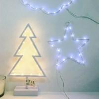 화이트 크리스마스트리 마퀴라이트 LED 조명