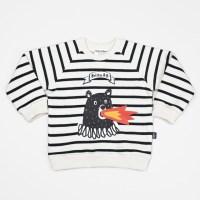 Stripe Fire Bear Sweatshirts