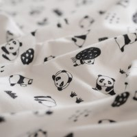 [Fabric] 코튼기모 charming Panda pattern cotton (차밍 판다)