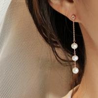 진주 브릿지 체인 귀걸이 pearl bridge chain earring