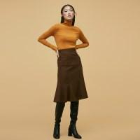 Mermaid Line Skirt in Brown