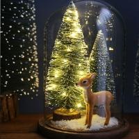 LED 크리스마스트리 유리돔_아기사슴