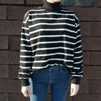 Stripe pola man to man(기모)