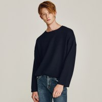 MOVED OVERFIT ROUND KNIT (NAVY)