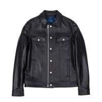 lambskin type-101 trucker jacket (MEN) (Black)_(731938)
