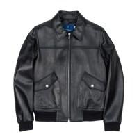 lambskin A-1 jacket (MEN) (Black)_(731934)