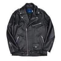 lambskin oversize rider jacket (Black)_(731932)