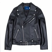 lambskin type-1 rider jacket (MEN) (Black)_(731931)