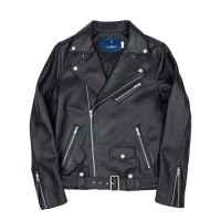 cow hide riders jacket (MEN) (Black)_(731929)