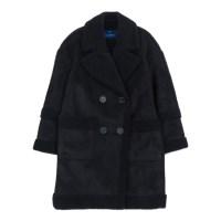 oversized suede mouton coat (Black)_(731928)