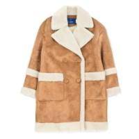oversized suede mouton coat (Beige)_(731927)