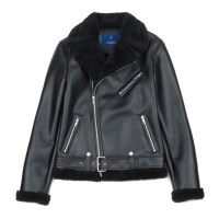 double riders mouton jacket (Black)_(731924)
