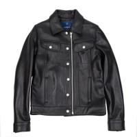 lambskin type-101 trucker jacket (WOMAN) (Black)_(731917)