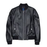 lambskin MA-1 jacket (WOMAN) (Black)_(731915)