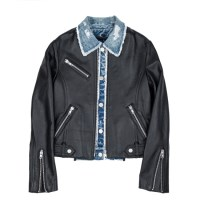 (WOMAN) cowhide 2way layered jacket (Black)_(731914)