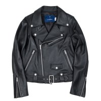 cow hide riders jacket (WOMAN) (Black)_(731909)
