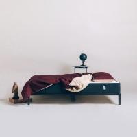 [라쏨] 버건디&베이지 천연 린넨 베딩 세트 (싱글/슈퍼싱글/퀸)