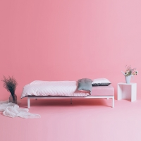 [라쏨] 핑크&그레이 천연 코튼 베딩 세트 (싱글/슈퍼싱글/퀸)