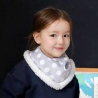 [베베누보] 스노우 워머빕/스카프_빅도트그레이